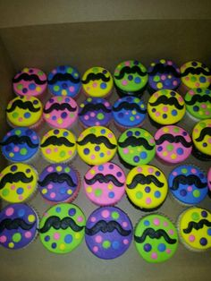 Mustache cupcakes! I made today :-)