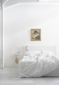 There's no better way to make a piece of artwork pop than to hang it in an all-white room.