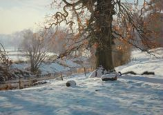 Peter Barker (b.1954) - Colours of Winter. Pastel.