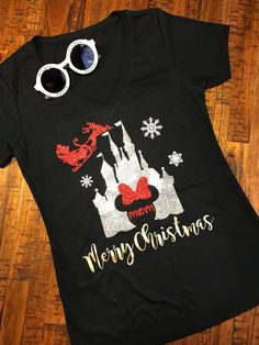 Disney Very Merry Christmas T- Shirts Set of 4 Matching Family Monogram Matching Shirts - Christmas T Shirt - Ideas of Christmas T Shirt - image 0 Disney World Christmas Shirts, Disney Very Merry Christmas, Disneyland Christmas, Disney Shirts For Family, Magical Christmas, Christmas Vacation, Christmas Ideas, Chico California, Beautiful Boys