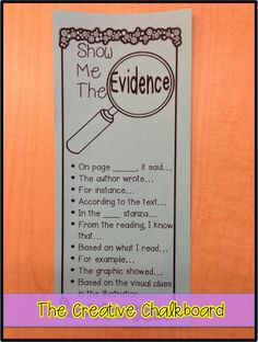 The Creative Chalkboard: Showing Evidence Freebie and New Spring Fling Clipart