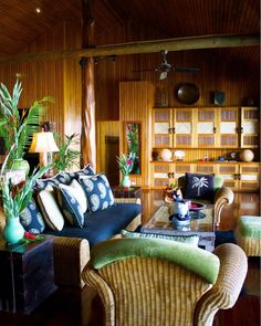 With spacious interiors, ultra plush seating and bedding, and carefully curated tropical decor, you'll feel perfectly at home, island-style. Thatched Roof, Wood Interiors, Tropical Decor, South Pacific, Luxury Villa, Fiji, Bedding, Plush, Spa