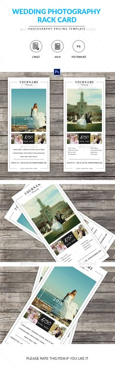 Photography Advertising Rack Card Template Design   Photography