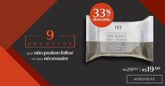 Compre na Rede Natura os lenços de limpeza dupla face Tez com 33% OFF. Promoção válida de 10 a 13/out ou enquanto durarem os estoques. Produtos que não podem faltar no seu nécessaire Por tempo limitado. Confira!