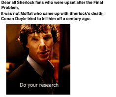 But Moffat made it this emotional. It probably already was in the original books, but Moffat made it fit our century