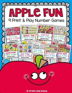Apple Fun - Math Centers / GamesThis file includes 9 fun printable card games that can be used with small groups of students or in a math center.They would be great for the beginning of Grade One, or through the year in Kindergarten.These five games teach a variety of skills and deal with numbers mostly from 0 to 20.