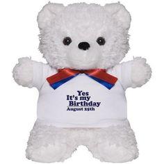 august 25th birthday bear