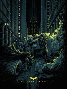 The Dark Knight (variant), by Dan Mumford #danmumford #batmanprint