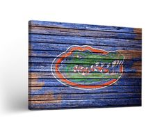Florida Gators Weathered Wood Canvas Wall Art Print Rectangle