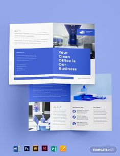 The next Cleaning Brochure Templates is ideal for every business owner. Never underestimate the power of excellent brochures. They give a basic background for your organization and answer popular questions quickly, friendly. Brochure Sample, Bi Fold Brochure, Brochure Template, Brochure Layout, Yearbook Pages, Yearbook Layouts, Yearbook Spreads, Magazine Layout Design, Book Design Layout