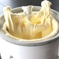 home made creamy vanilla ice cream