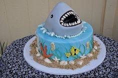 cute shark cake.