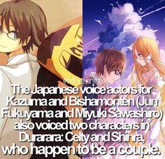 Anime facts seiyuu