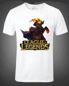 League of Legends Hero Hecarim t shirt plus size for men-