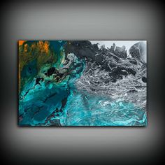 Gift for Him Painting 24 x 36 Abstract Painting Oil Painting Abstract Wall Art Large Wall Art Canvas Blue Home Decor Wall Hanging Canvas Art by LDawningScott on Etsy https://www.etsy.com/listing/258274482/gift-for-him-painting-24-x-36-abstract