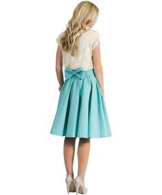 Elle Apparel: MINT bow skirt DIY tutorial