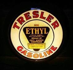 "RARE Original Tresler Ethyl Gas Globe - 11.25"" Lenses"