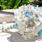 Turquoise Hydrangea Bouquet