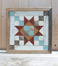 barn quilt block salvaged wood barn quilt by IlluminativeHarvest