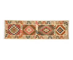 Kilim anudado a mano en lana Othman - 199x59cm