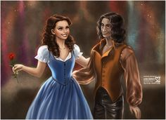 Belle and Rumplestiltskin from Once Upon a Time. *sigh* I love this couple AND the show!