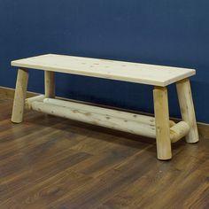 Hidden Lake Cedar Log Bench - JHE's Log Furniture Place