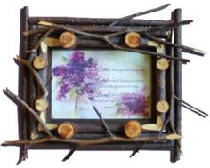 Button-Twig Frames || Furniture || Dave's Rustic Willow Furniture