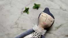 Abracadabra and stuff Whimsical plusies and rag dolls. Fabric handmade Rag doll Cloth doll with blue purple painted hair White linen outfit BW Girl gift Birthday gift Soft doll Plush toy soft Hand Painted Dress, Birthday Gifts For Girls, Craft Box, Hair Painting, Rag Dolls, Soft Dolls, Girl Gifts, Plushies, Purple