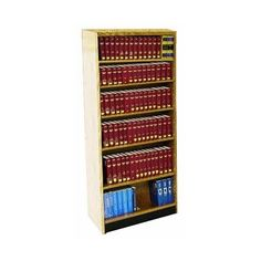 "W.C. Heller Double Face Shelf Adder 82"" Standard Bookcase"