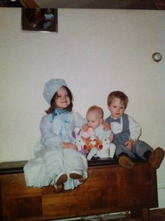 Having my mother dress me and my siblings like THIS on Easter.