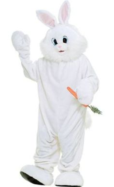 Adult Deluxe White Bunny Rabbit Mascot Costume   Party City