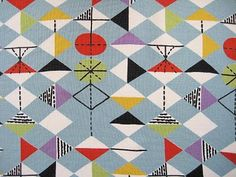 Marion Mahler fabric design, 50's.