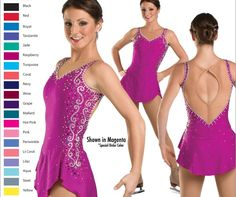 Aliexpress.com : Buy Hot Sales Girls Figure Skating Dresses Graceful New Brand Ice Figure Skating Dresses For Competition Kids DR3729 from Reliable dress flowery suppliers on Crystal Professional Custom Figure Skating Dresses Store