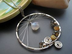 Silver Dream Catcher Necklace Twilight by SerasiJewelry on Etsy cost money for it but gives people an idea to make it on your own