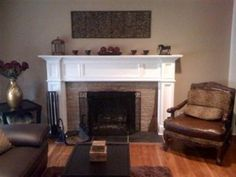 Fireplace Surround Options | An upgraded room with the Georgetown fireplace mantel shown in a white ...