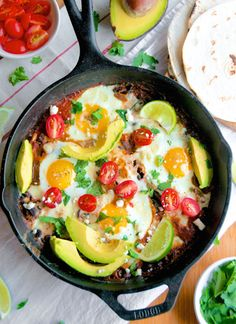 Skilled Baked Huevos Rancheros are an easy alternative to taco night—and they double as breakfast, too!   Aberdeen's Kitchen