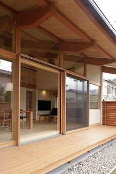 44 Inexpensive Japanese House Design Ideas With Traditional Elements - Japanese designs are absolutely simple and extremely attractive at the same time. Nowadays people are opting for more Japanese style living as it is v. Japanese Style House, Traditional Japanese House, Japanese Interior, Japanese Design, Japanese Architecture, Interior Architecture, Patio Roof Covers, Architectural Section, Timber House