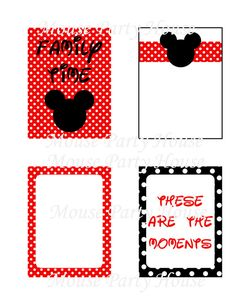 Disney Life Printable Journaling Cards Project Life Inspired~ 3x4 by MousePartyHouse, $1.75