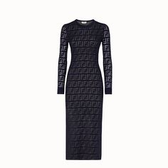 Ready to Wear Women Dresses available at official online Fendi stores where you come first for Women Luxury & Designer Dresses. Fitted Midi Dress, Tube Dress, Princess Line Dress, Square Neckline Dress, White Satin Dress, Fendi Dress, Luxury Dress, Ladies Dress Design, Cotton Dresses