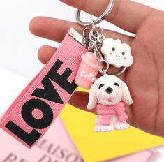 Newest Hot Fashion Trendy Cute Key Chains Cartoon Puppy Key Chains Creative Key Chains For Women Jewelry Gift Buy Now Discount: Price: USD USD Newest Hot Fashion Trendy Cute Key Chains Cartoon Puppy Key Chains Creative Key Chains For Women Jewelry Gift Jewelry Gifts, Jewelry Accessories, Fashion Accessories, Women Jewelry, Mamas And Papas, Gadget Gifts, Little Dogs, Dog Supplies, I Love Dogs