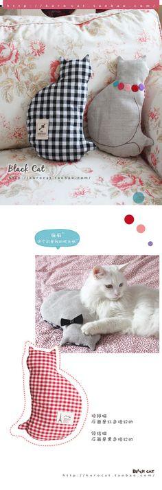 Cat plushies, cute!
