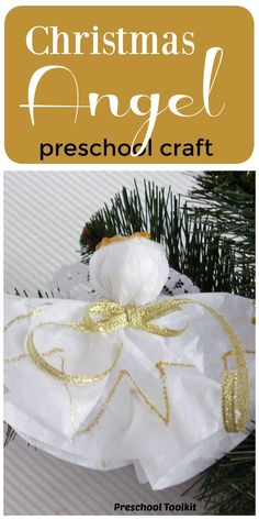 This delicate angel craft is bright and sparkly and perfect for the holiday. Spread the joy of Christmas with an angel craft filled with creative play for kids. #christmascrafts #kidscrafts Christmas Projects, Holiday Crafts, Holiday Decor, Preschool Crafts, Crafts For Kids, Paper Angel, Christmas Program, Angel Crafts, Drummer Boy