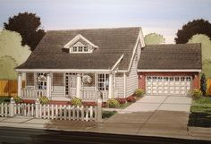 <ul><li>A first floor master suite and large open living space are key design elements in this 3 bed bungalow house plan.</li><li>The great room is open to the dining room and that space in turn is open to the kitchen and nook. The island in the kitchen has seating and there is a walk-in pantry for storage.</li><li>Homeowners won't have far to go at night with the first floor suite close at hand complete with walk-in closet and five fixture bath.</li><li>On the second floor, two good-sized…