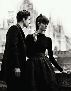 Love Story : Sam Rollinson and Ondrey by Nikolay Biryukov for Elle Ukraine Sept. 2012