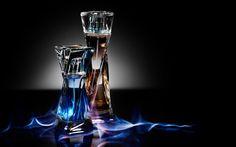 Frascos en llamas del perfume Hypnose (Lancome) para mujer y hombre