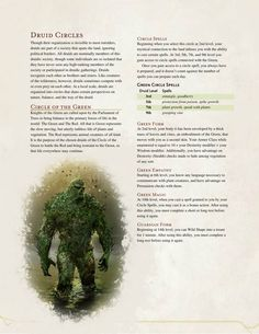 Circle of the Green Druid by The Middlefinger of Vecna