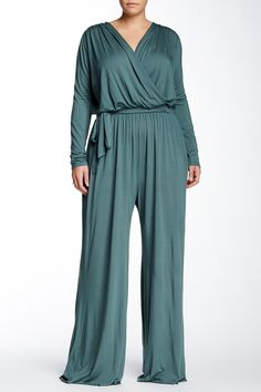 Tristan Long Sleeve Jumpsuit (Plus Size) by White Label by Rachel Pally on @nordstrom_rack