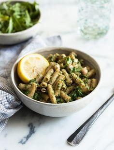 Chickpea Pesto Pasta Salad | The Full Helping