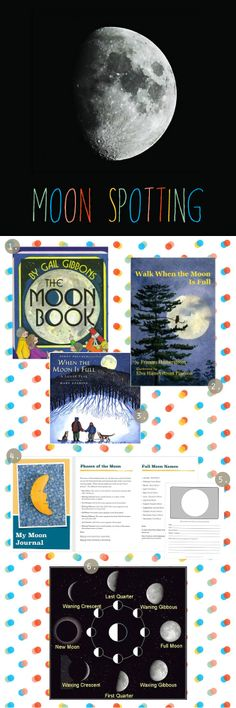 Great tips and for moon watching with the budding young scientists in our lives. Also, great explanation of the Phases of the Moon and Full Moon Names. Preschool Science, Science Classroom, Teaching Science, Science For Kids, Earth Science, Science Activities, Science Projects, Educational Activities, Activities For Kids