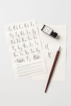 letter a ideas quill amp scroll calligraphy set by linea carta at 6827